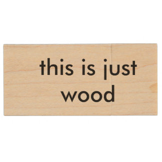 this is just wood wooden hard drive wood USB 2.0 flash drive