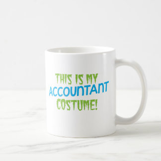 This is my Accountant costume! Halloween design Basic White Mug