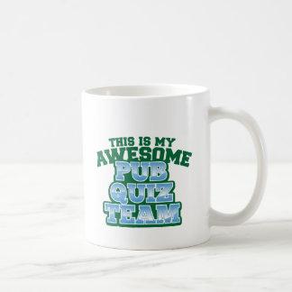 This is my AWESOME Pub Quiz Team Basic White Mug