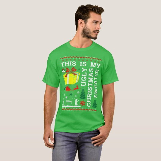 This Is My Badminton Ugly Christmas Sweater Tshirt