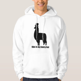 This Is My Fancy Hat Llama Hoodie