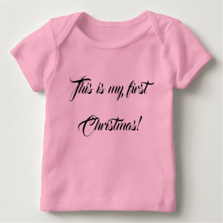 This is my first Christmas annuncement Baby T-Shirt