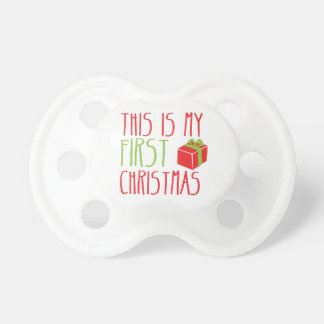 This is my FIRST Christmas newborn baby Xmas Baby Pacifier