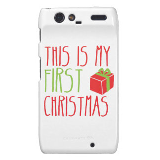 This is my FIRST Christmas newborn baby Xmas Motorola Droid RAZR Case