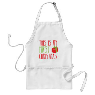 This is my FIRST Christmas newborn baby Xmas Standard Apron