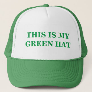 This is my Green Hat for St. Patrick's Day