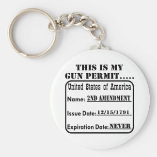 This Is My Gun Permit Basic Round Button Key Ring