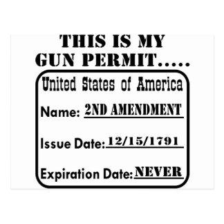 This Is My Gun Permit Postcards