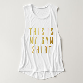 This is My Gym Shirt Women's Flowy Muscle Tank Top