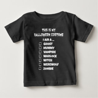 This is My Halloween Costume Check Mark Baby T-Shirt