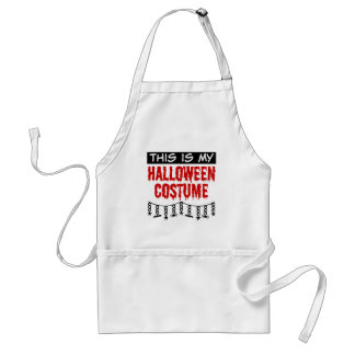 This is My Halloween Costume Spiders Bats Standard Apron
