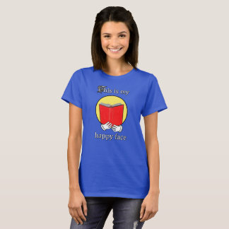 This is my Happy Face - Emoji reading a Book T-Shirt
