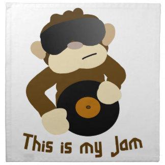 This is my jam, Monkey Napkin
