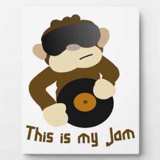 This is my jam, Monkey Plaque
