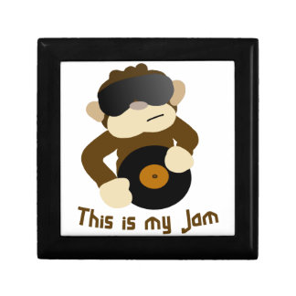 This is my jam, Monkey Small Square Gift Box