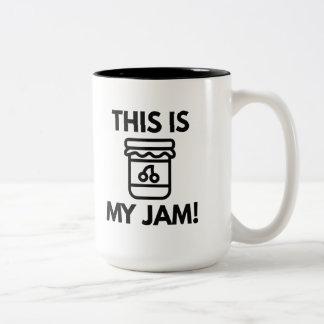This Is My Jam! Two-Tone Mug