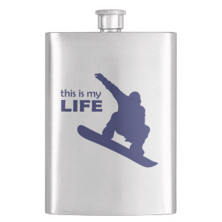 This Is My Life (Snowboarding) Flasks