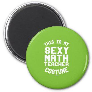 This is my Math Teacher Costume 6 Cm Round Magnet