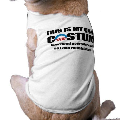 This is my Obama Costume Dog Tee Shirt