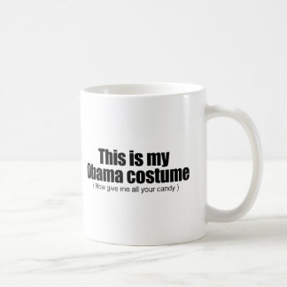This is my Obama costume now give me all your cand Basic White Mug
