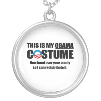This is my Obama Costume Round Pendant Necklace