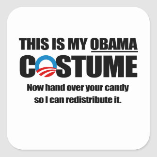 This is my Obama Costume Square Stickers