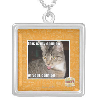 this is my opinion silver plated necklace