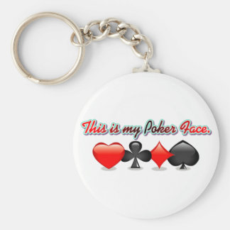 This is my Poker Face. Basic Round Button Key Ring