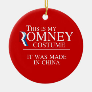 THIS IS MY ROMNEY COSTUME IT WAS MADE IN CHINA -.p Double-Sided Ceramic Round Christmas Ornament