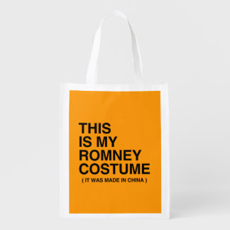 THIS IS MY ROMNEY COSTUME MADE IN CHINA - Hallowee Reusable Grocery Bag