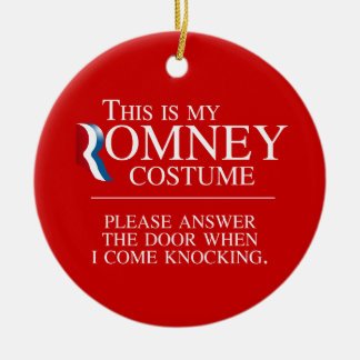 THIS IS MY ROMNEY COSTUME PLEASE ANSWER THE DOOR - Double-Sided CERAMIC ROUND CHRISTMAS ORNAMENT