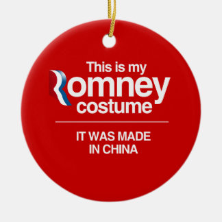 THIS IS MY ROMNEY COSTUME -.png Double-Sided Ceramic Round Christmas Ornament