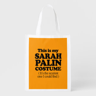 THIS IS MY SARAH PALIN COSTUME - Halloween - png Grocery Bags