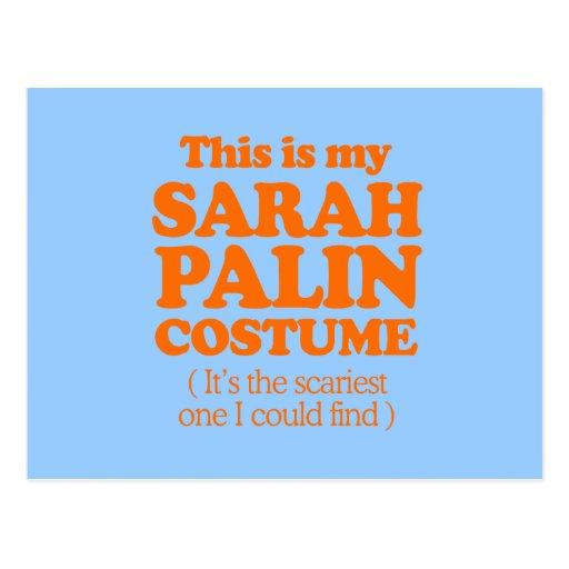 THIS IS MY SARAH PALIN COSTUME POSTCARDS