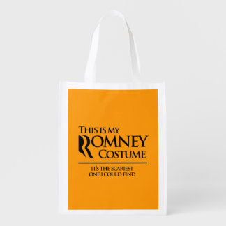 THIS IS MY SCARY ROMNEY COSTUME - Halloween - png Reusable Grocery Bag