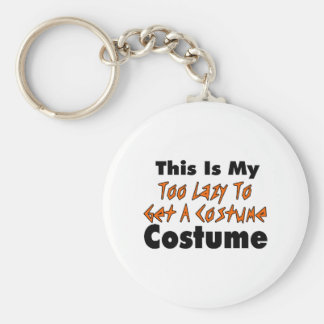 This Is My Too Lazy To Get A Costume Costume Basic Round Button Key Ring
