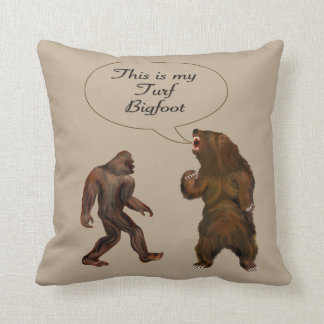 This is-my Turf Bigfoot  Painting Throw Pillow Throw Cushion
