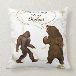 This is-my Turf Bigfoot Polyester Throw Pillows Cushion