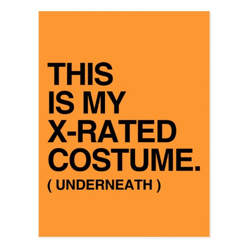 THIS IS MY X-RATED COSTUME.png Post Cards
