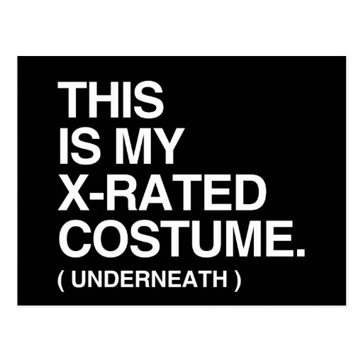 THIS IS MY X-RATED COSTUME POST CARD