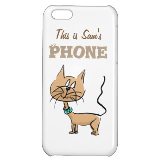 This is (name) customize phone case cartoon cat cover for iPhone 5C