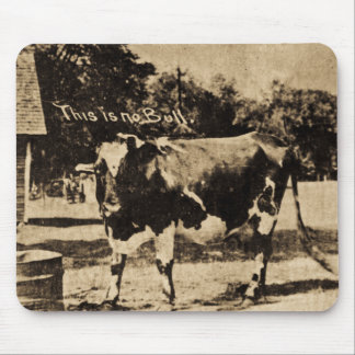 This is NO Bull!  Vintage Mousepad
