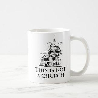 this is not a church classic white coffee mug