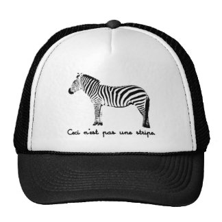 This Is Not A Stripe Mesh Hats
