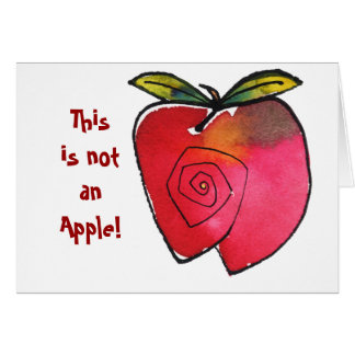 This Is Not an Apple Notecard