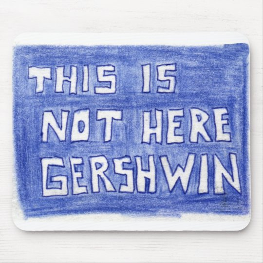 This Is Not Here Mouse Mat