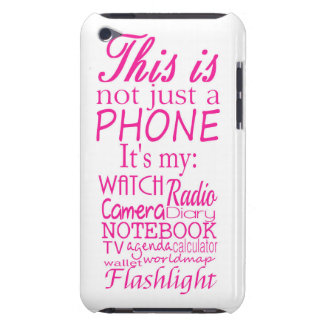 This is not just a phone barely there iPod case