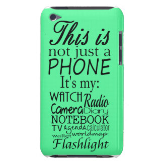 This is not just a phone barely there iPod covers