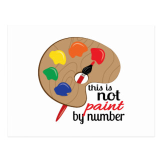 this is not paint by number postcard