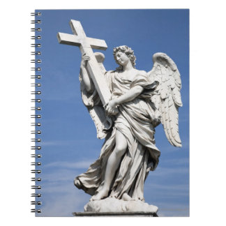 This is one of the angel statues of the famous spiral note book